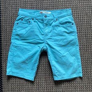 Levis 511 Womens Slim Shorts Pastel Green Waist 27